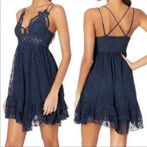 NWT Free People Adella Burnout Lace Mini Dress XS